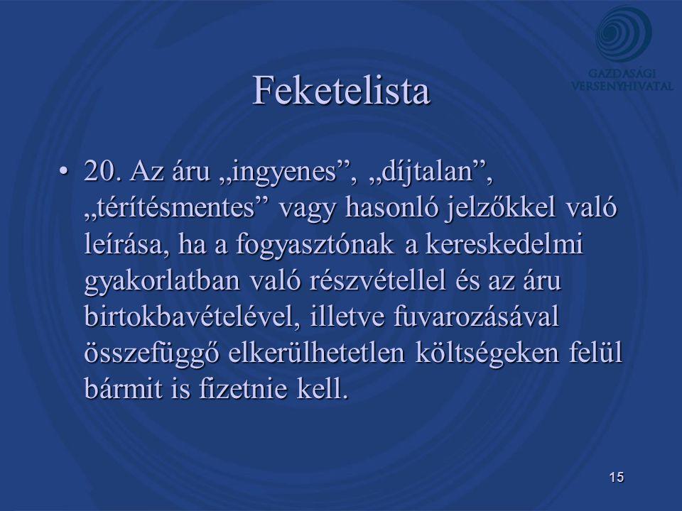 15 Feketelista •20.