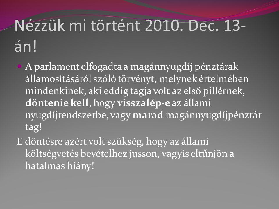 Nézzük mi történt 2010. Dec. 13- án.