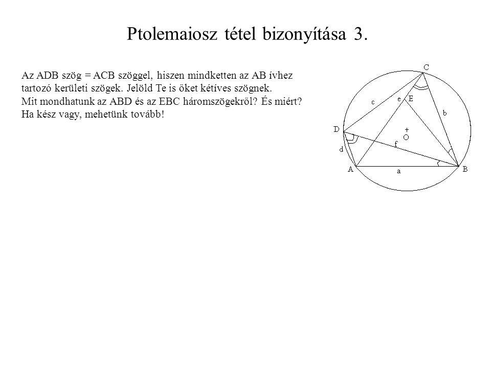 Ptolemaiosz tétel bizonyítása 3.