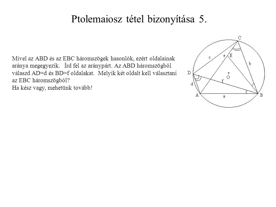 Ptolemaiosz tétel bizonyítása 5.
