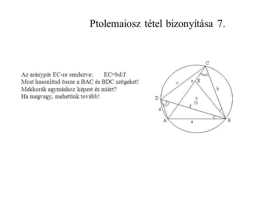 Ptolemaiosz tétel bizonyítása 7.