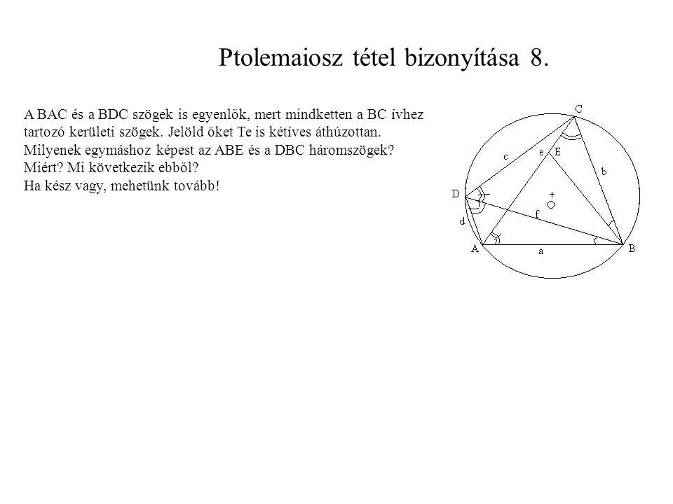 Ptolemaiosz tétel bizonyítása 8.