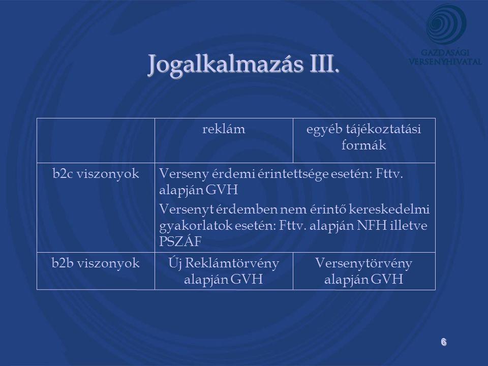 6 Jogalkalmazás III.
