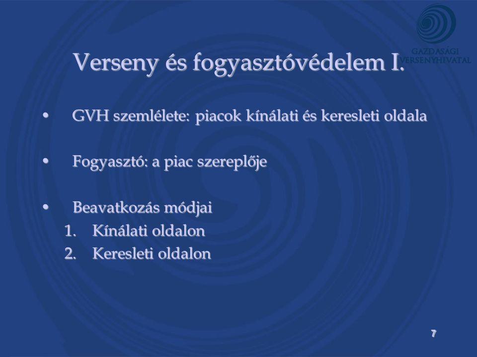 7 Verseny és fogyasztóvédelem I.