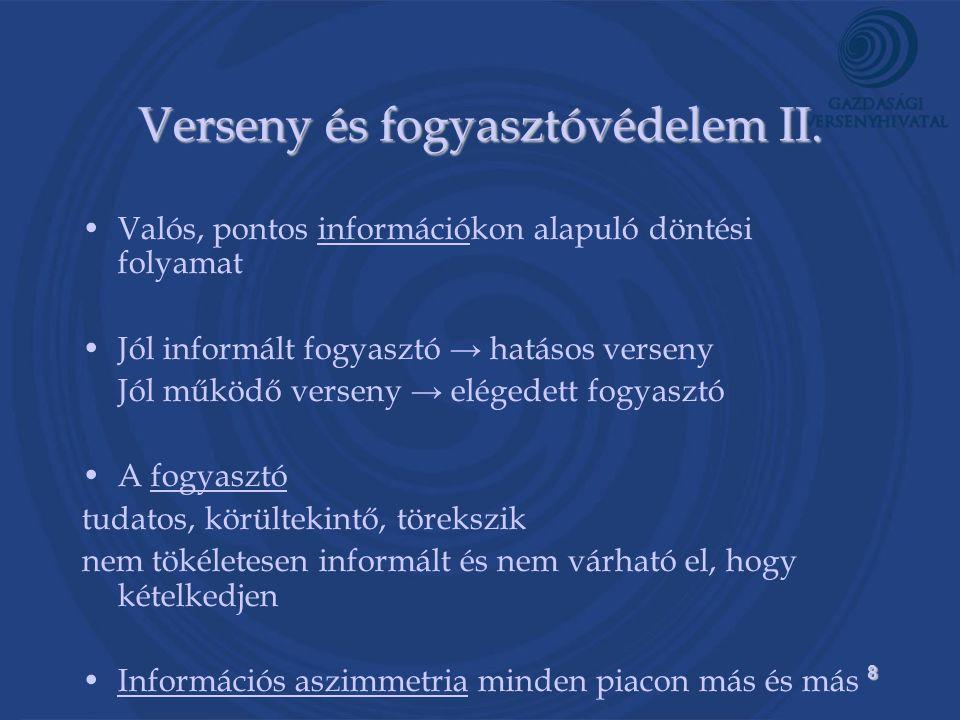 8 Verseny és fogyasztóvédelem II.