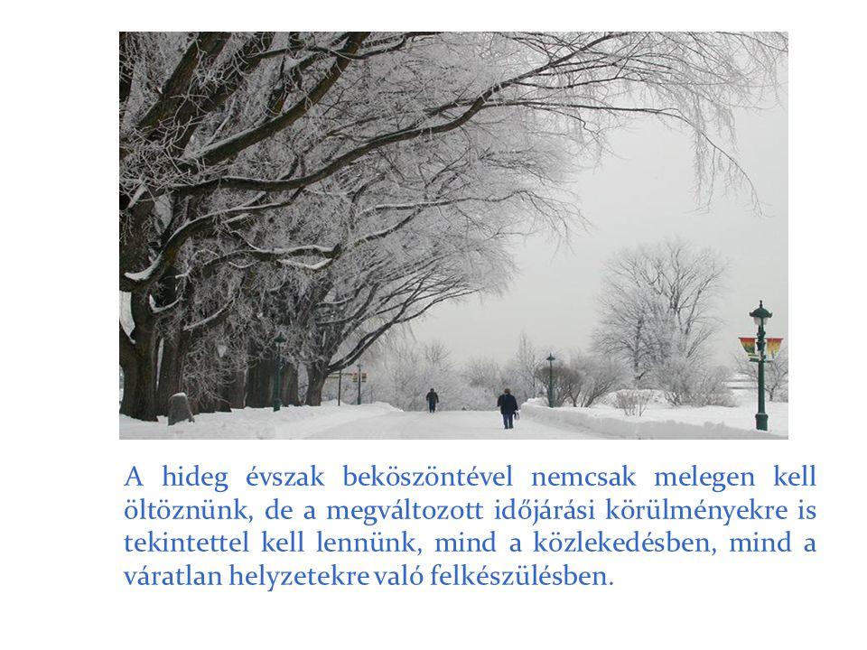 A hideg évszak beköszöntével nemcsak melegen kell öltöznünk, de a megváltozott időjárási körülményekre is tekintettel kell lennünk, mind a közlekedésb