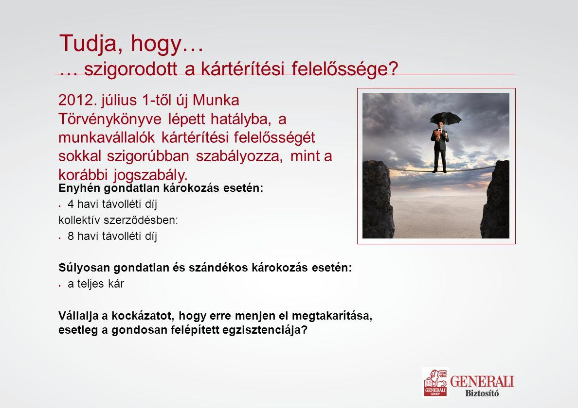 2012. július 1-től új Munka Törvénykönyve lépett hatályba, a munkavállalók kártérítési felelősségét sokkal szigorúbban szabályozza, mint a korábbi jog