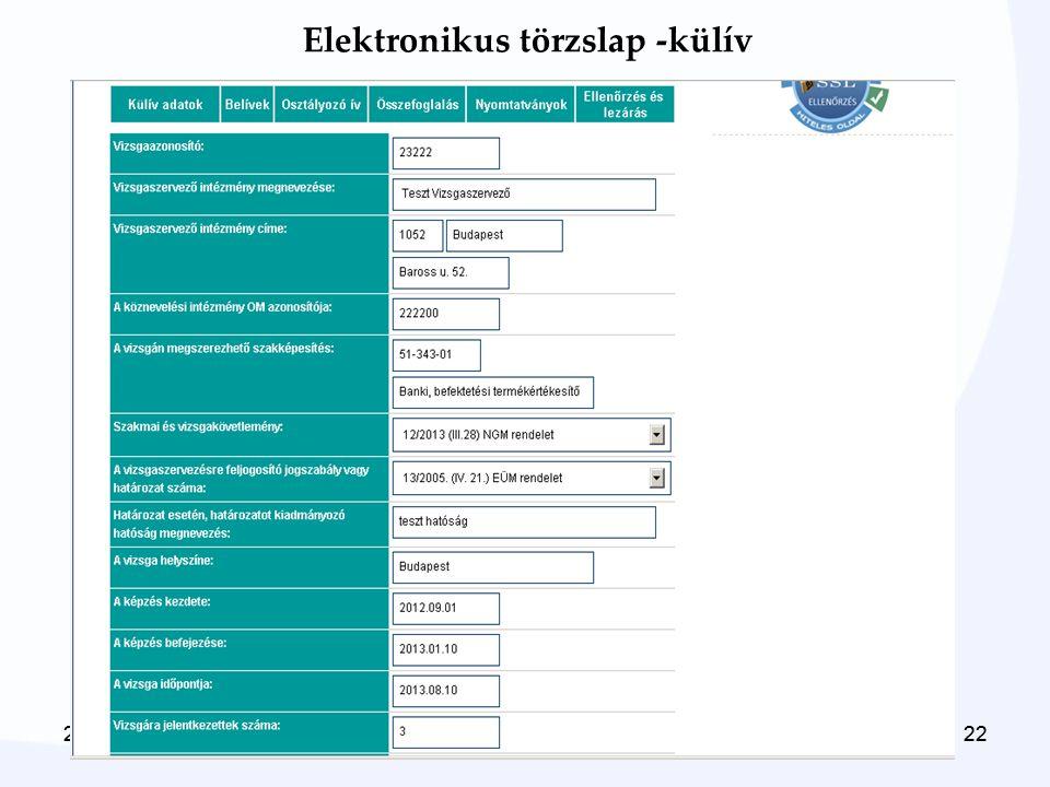 2014. 06. 22.222014. 06. 22.22 Elektronikus törzslap -külív