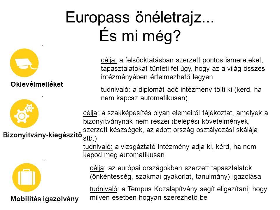 Europass önéletrajz...És mi még.