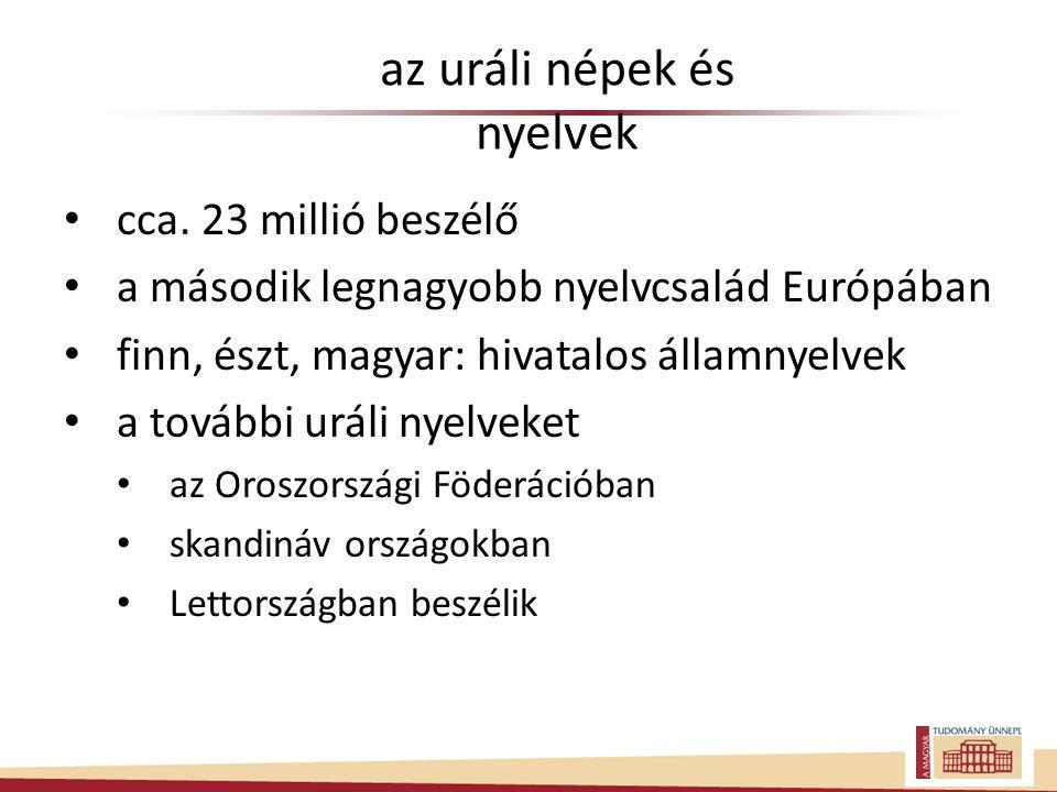 az uráli népek és nyelvek • cca.