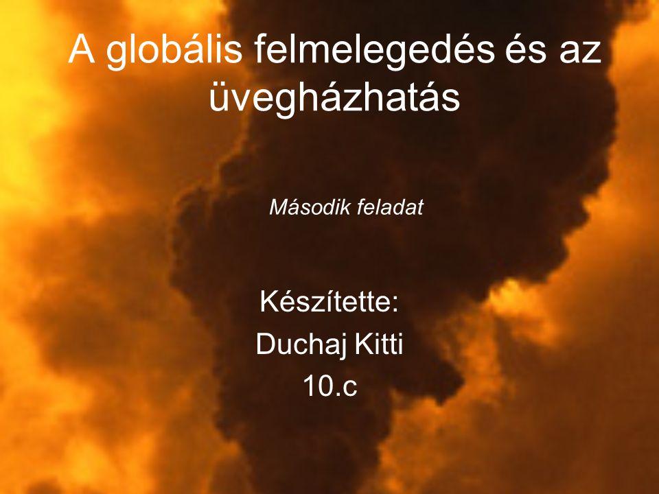A globális felmelegedés és az üvegházhatás Készítette: Duchaj Kitti 10.c Második feladat