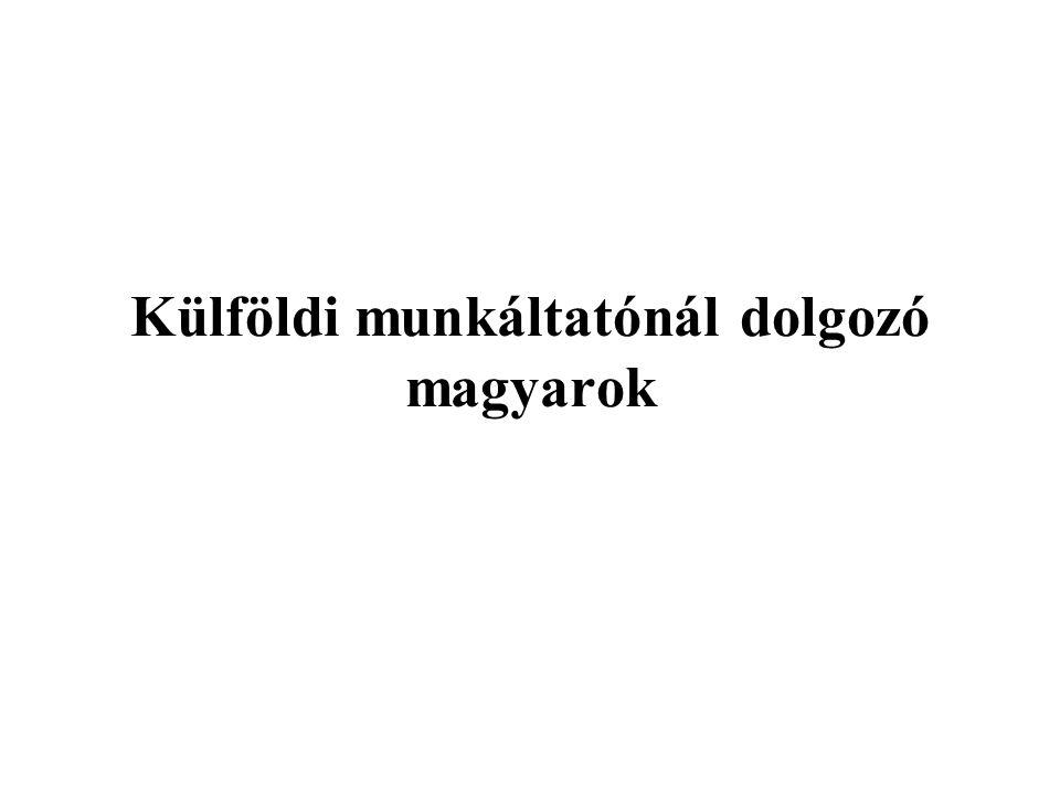 Külföldi munkáltatónál dolgozó magyarok