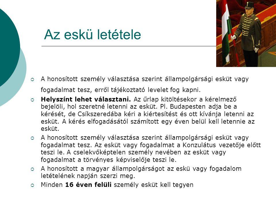 Kapok az állampolgársággal együtt magyar személyi igazolványt.