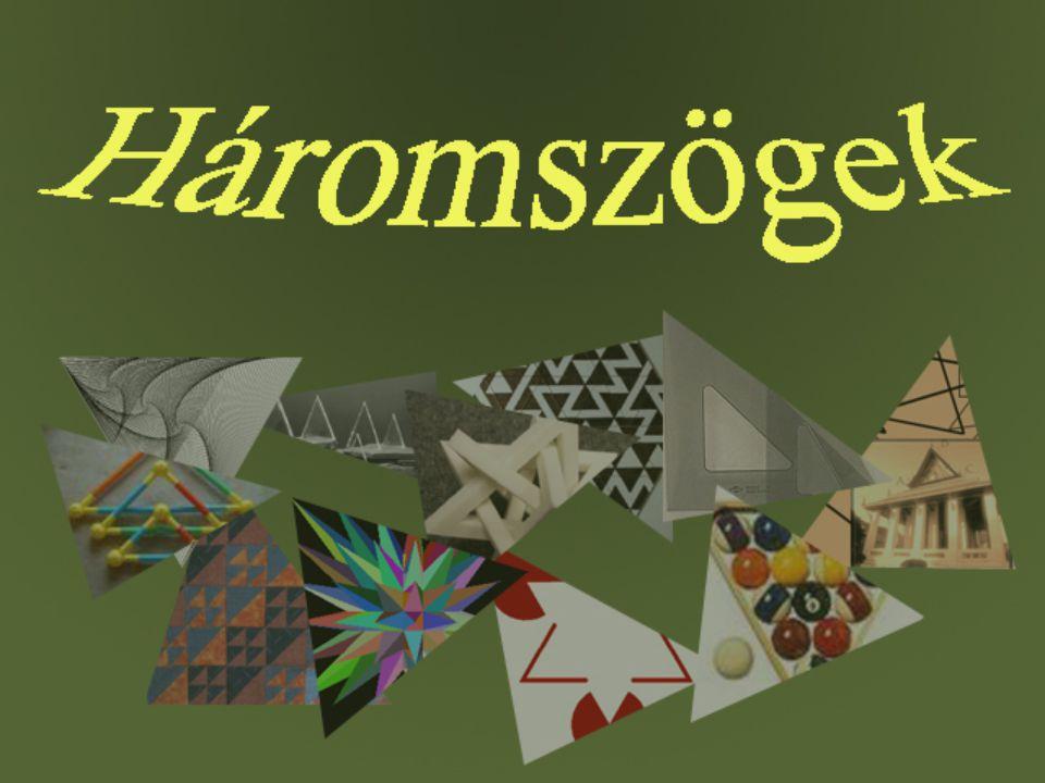 Különböző oldalú háromszögek Háromszögek, amelyeknek minden oldaluk különböző hosszúságú.