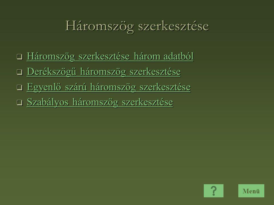 Uralkodó forma: A HÁROMSZÖG Nádler István sorozata: Háromszögek (1994-95 termése)