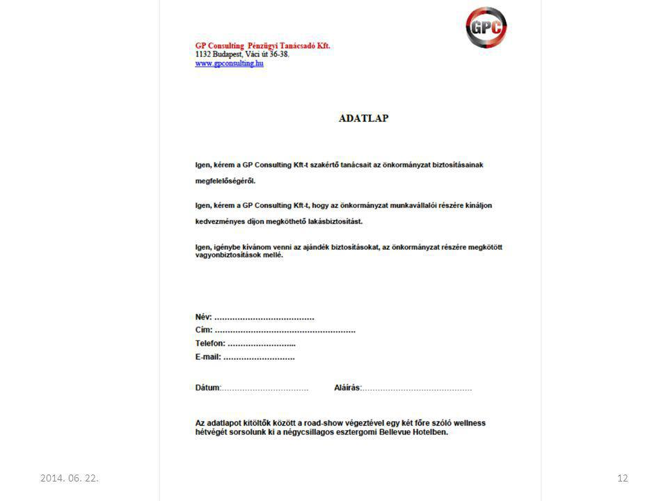 2014. 06. 22.GP Consulting Pénzügyi Tanácsadó Kft.12
