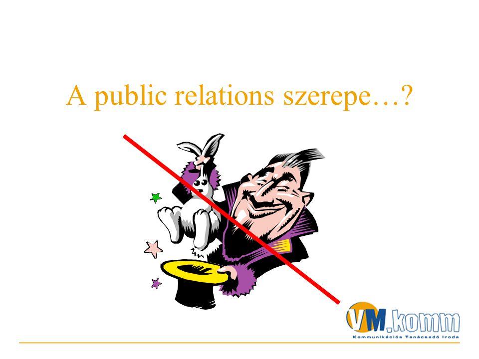 A public relations szerepe…