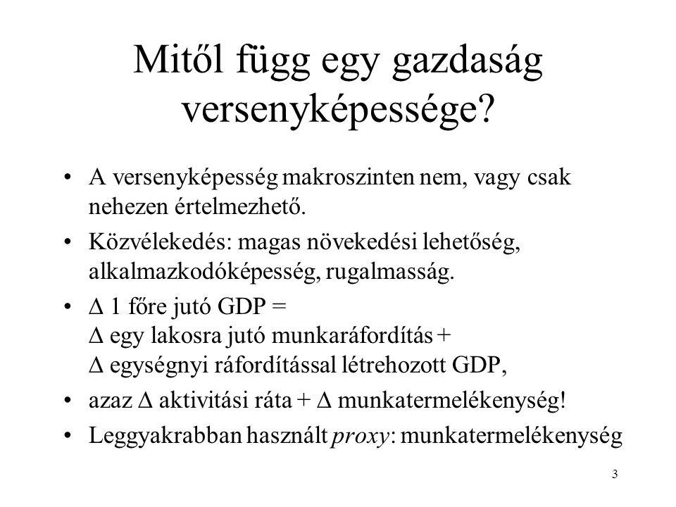 3 Mitől függ egy gazdaság versenyképessége.