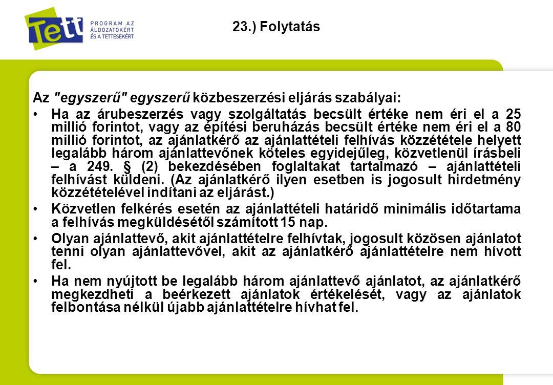 23.) Folytatás Az
