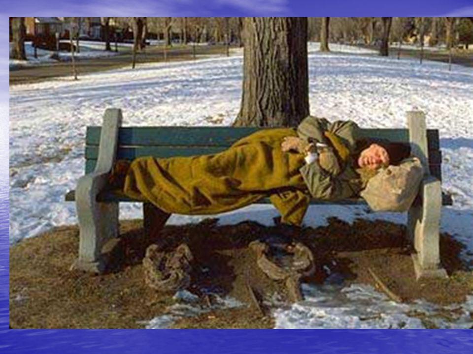 Téli hidegek • Feladatok: –Hajléktalan szállók felmérése –Hajléktalanok számbavétele –Melegedők kijelölése –Kilakoltatás megtiltása –Közművek elzárási