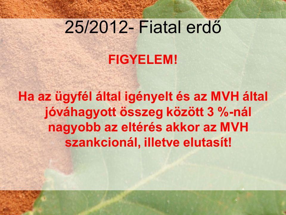 25/2012- Fiatal erdő FIGYELEM.