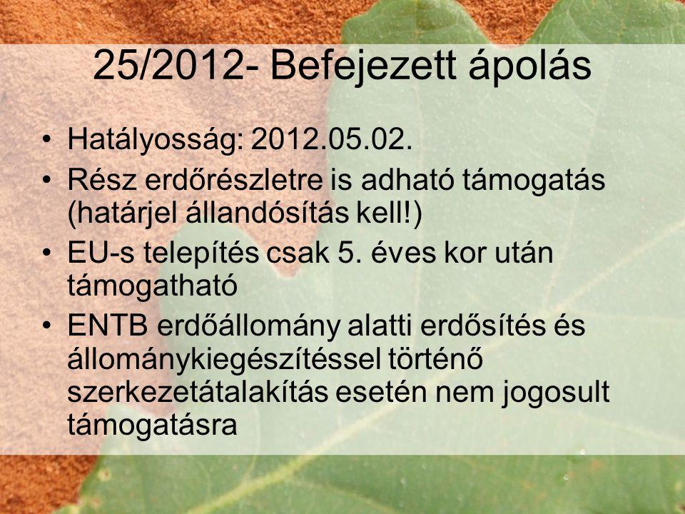 25/2012- Tisztítás •Hatályosság: 2012.05.02.