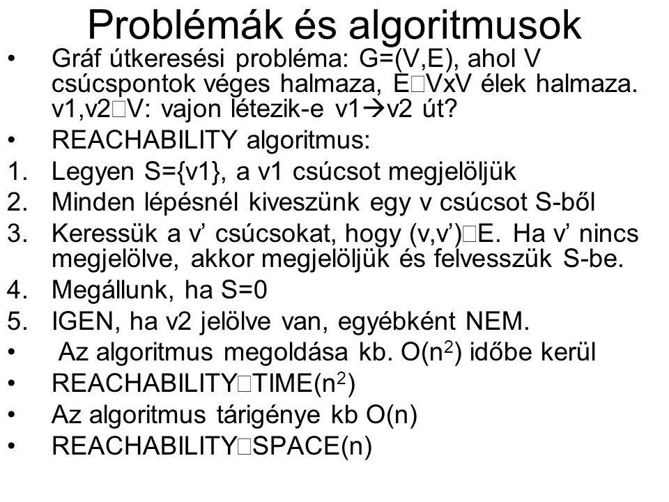 •Gráf útkeresési probléma: G=(V,E), ahol V csúcspontok véges halmaza, E  VxV élek halmaza.