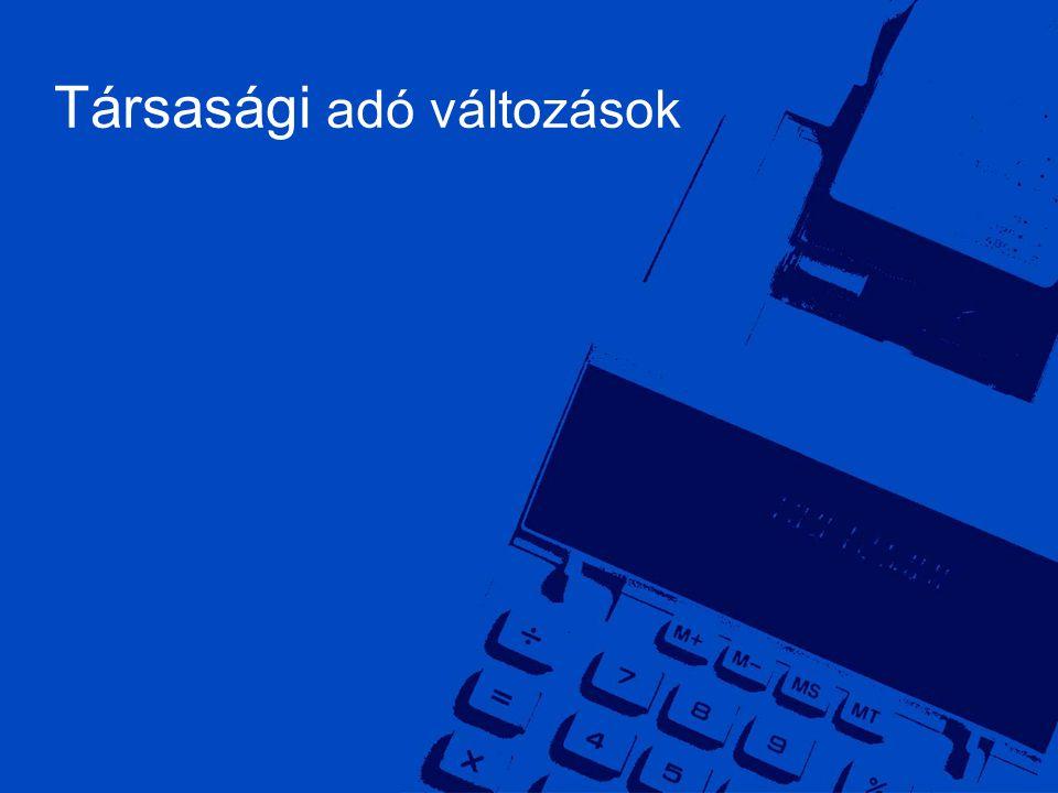©2006 Deloitte Zrt. 2 Társasági adó változások