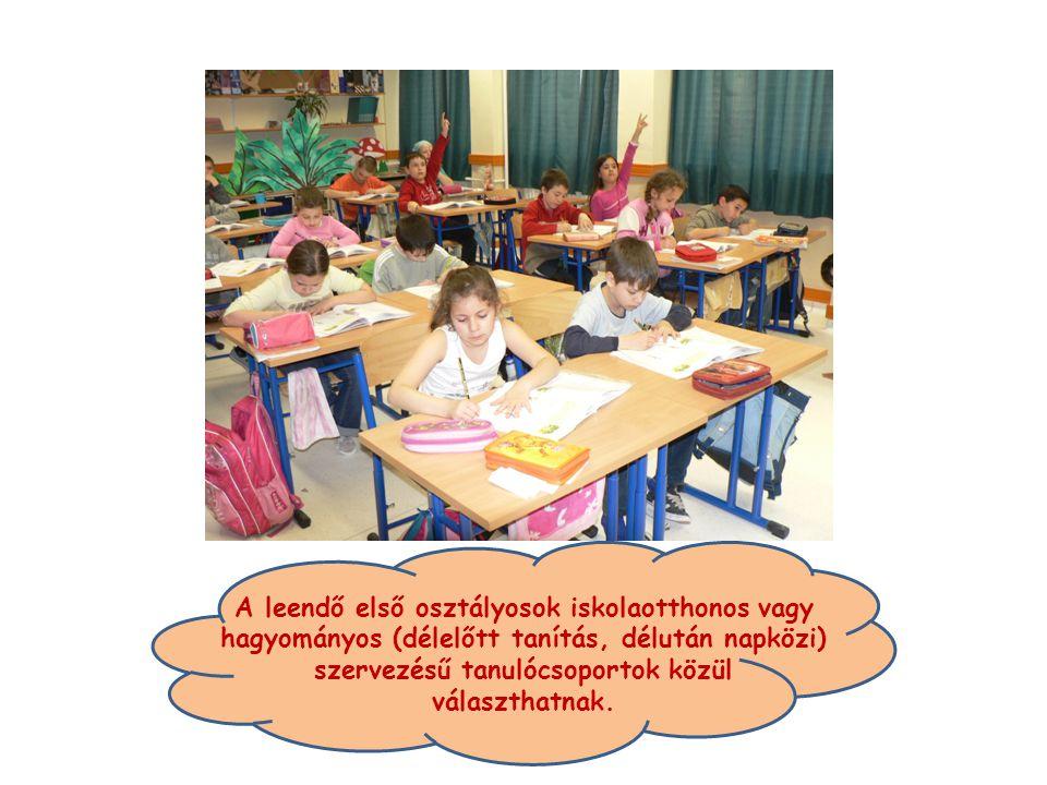 A leendő első osztályosok iskolaotthonos vagy hagyományos (délelőtt tanítás, délután napközi) szervezésű tanulócsoportok közül választhatnak.