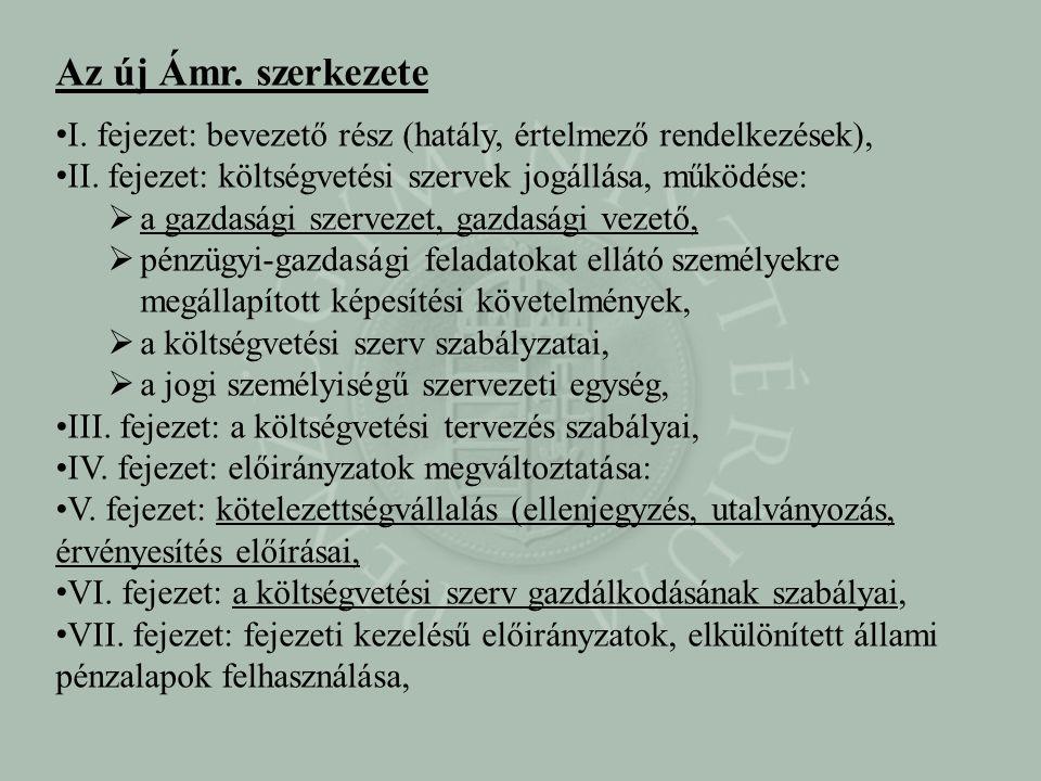 • VIII.fejezet: belső kontrollrendszerek, •IX.