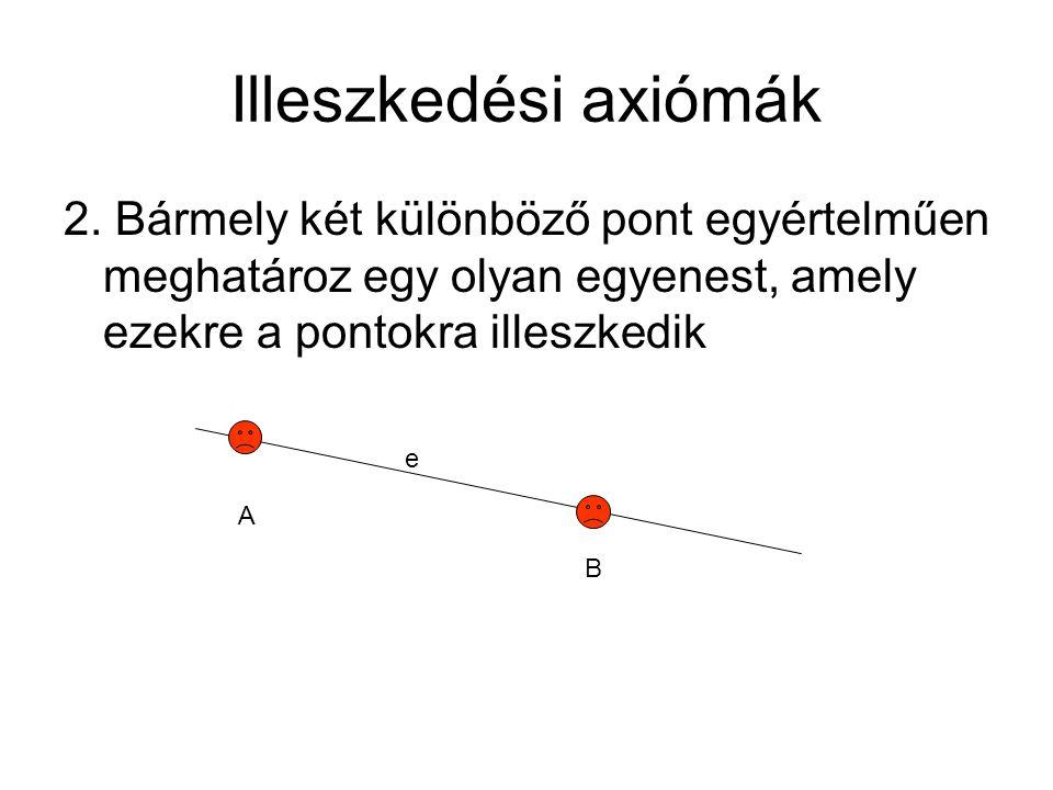 Illeszkedési axiómák 2.