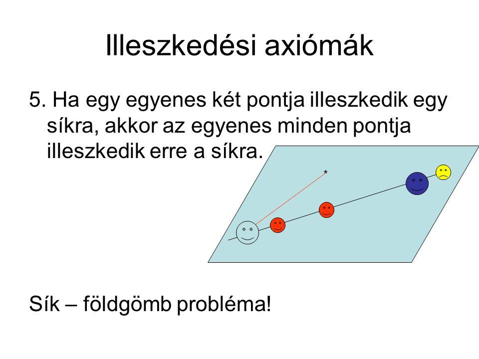 Illeszkedési axiómák 5.