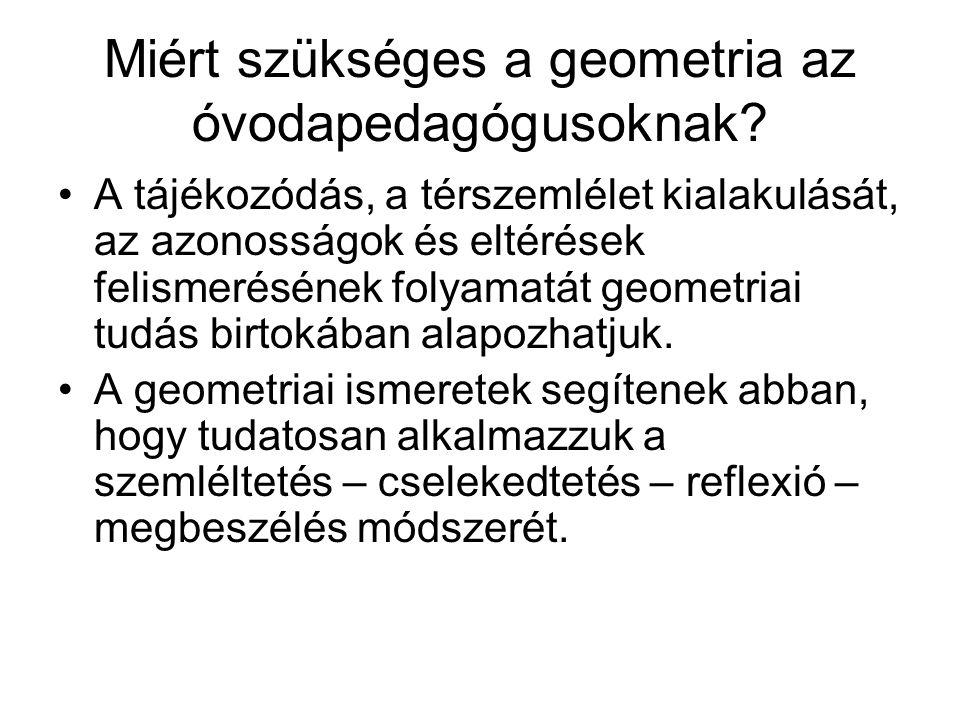 Miért szükséges a geometria az óvodapedagógusoknak.