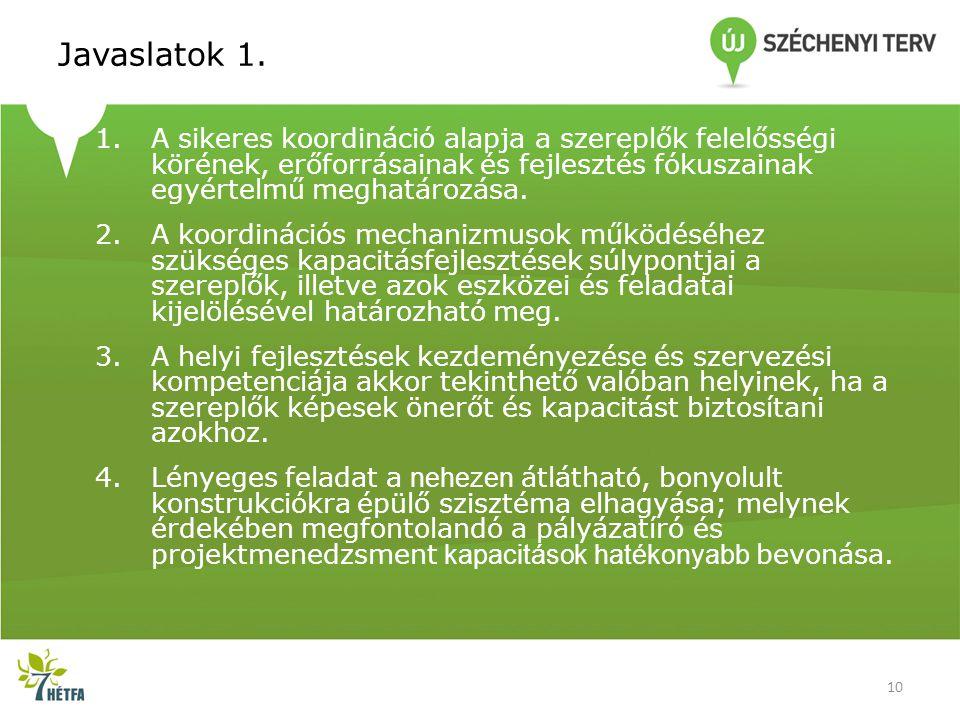 Javaslatok 1.