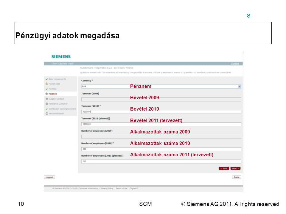 s 10SCM© Siemens AG 2011.