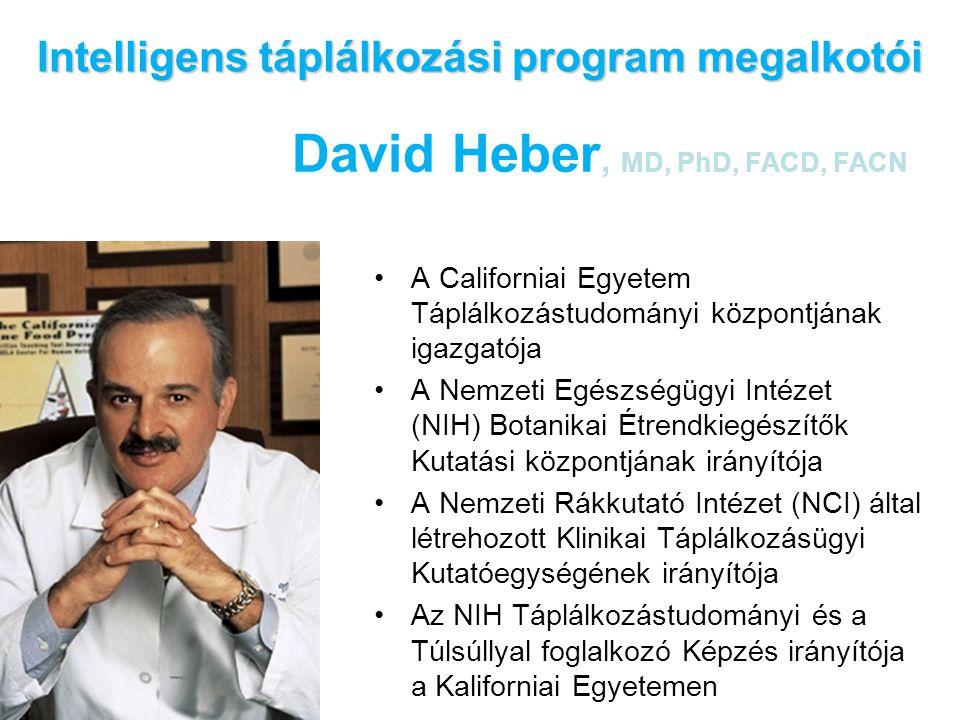 •A Californiai Egyetem Táplálkozástudományi központjának igazgatója •A Nemzeti Egészségügyi Intézet (NIH) Botanikai Étrendkiegészítők Kutatási központ