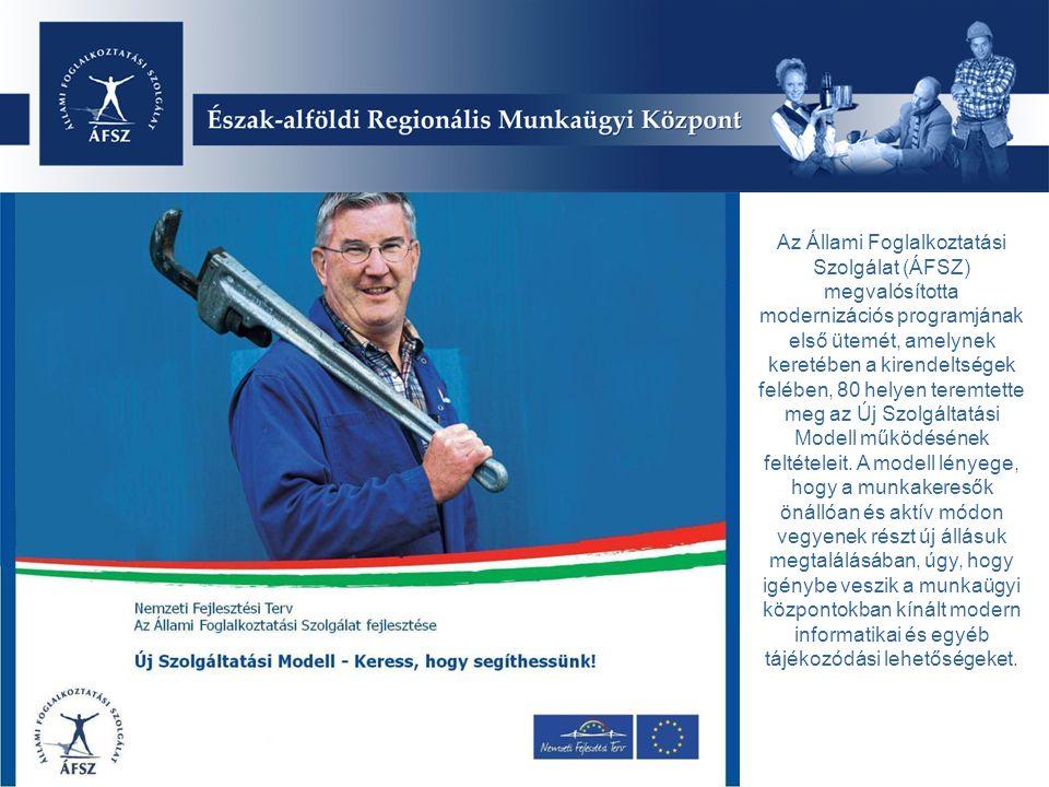 Az Állami Foglalkoztatási Szolgálat (ÁFSZ) megvalósította modernizációs programjának első ütemét, amelynek keretében a kirendeltségek felében, 80 helyen teremtette meg az Új Szolgáltatási Modell működésének feltételeit.