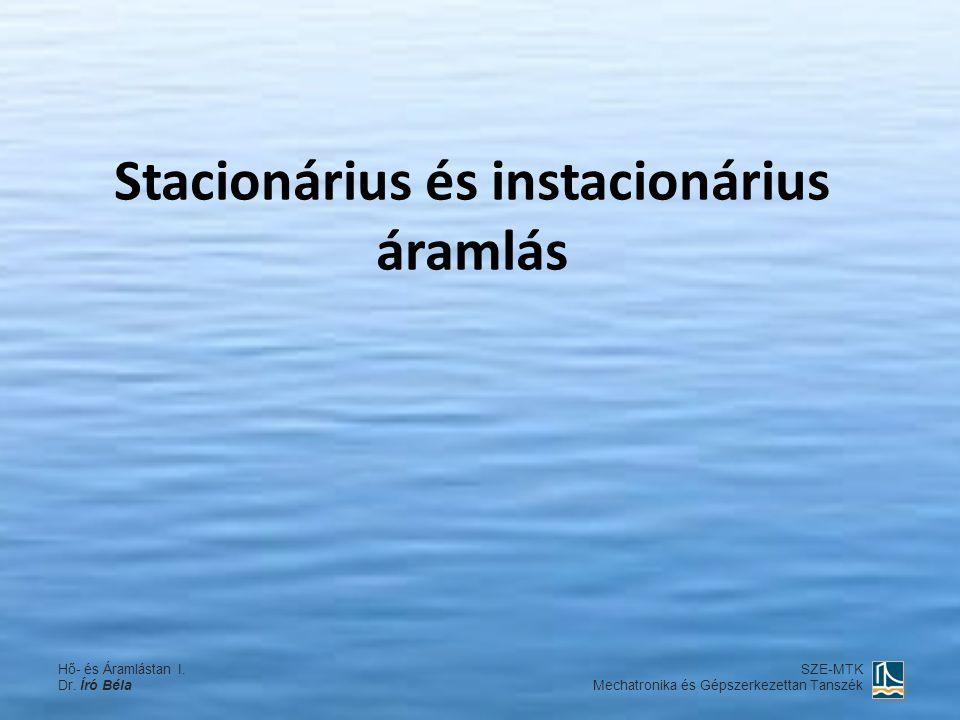Stacionárius és instacionárius áramlás Hő- és Áramlástan I.