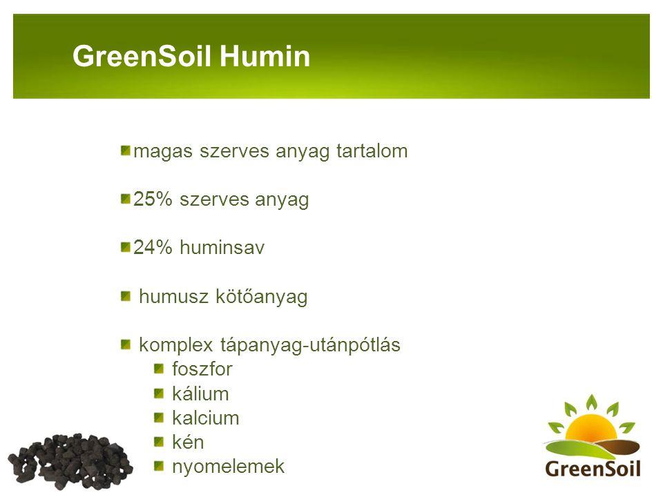 PANNON-RADE KFT.GreenSoil Humin magas szerves anyag tartalom 25% szerves anyag 24% huminsav humusz kötőanyag komplex tápanyag-utánpótlás foszfor káliu