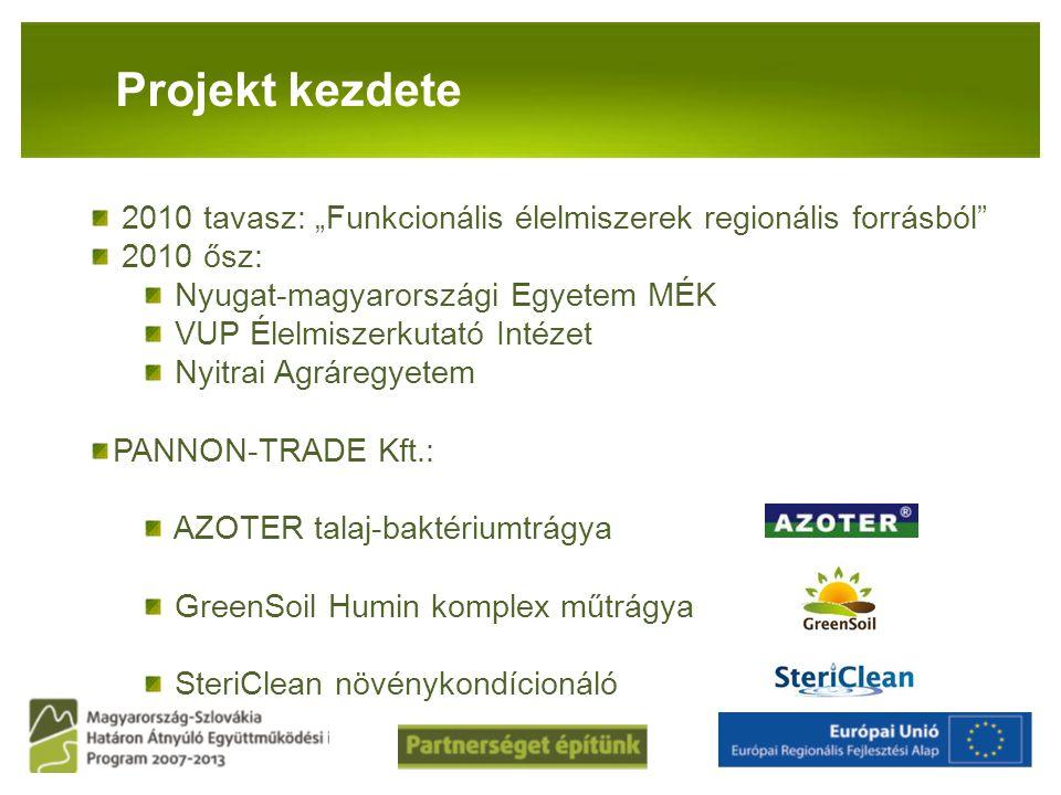 """PANNON-RADE KFT.Projekt kezdete 2010 tavasz: """"Funkcionális élelmiszerek regionális forrásból"""" 2010 ősz: Nyugat-magyarországi Egyetem MÉK VUP Élelmisze"""
