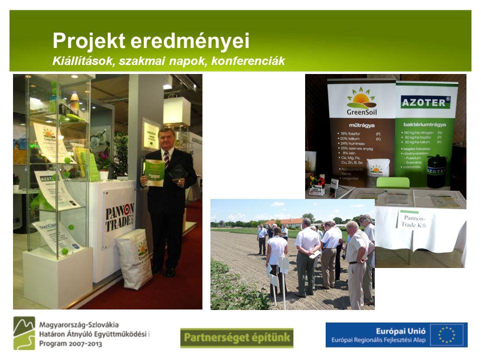PANNON-RADE KFT.Projekt eredményei Kiállítások, szakmai napok, konferenciák