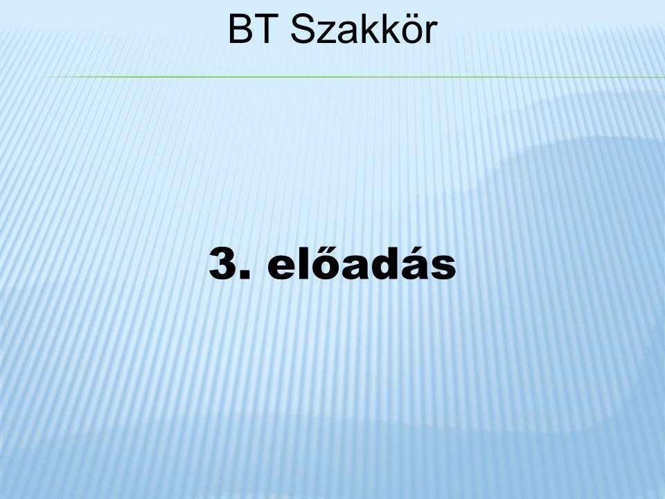 BT Szakkör 3. előadás
