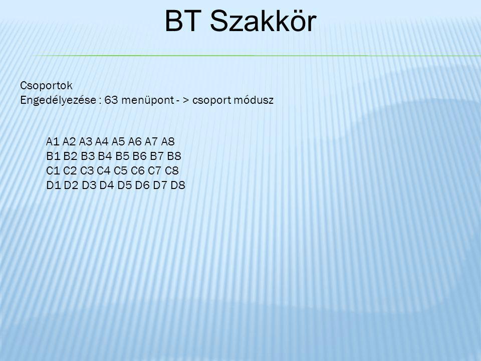 Csoportok Engedélyezése : 63 menüpont - > csoport módusz A1 A2 A3 A4 A5 A6 A7 A8 B1 B2 B3 B4 B5 B6 B7 B8 C1 C2 C3 C4 C5 C6 C7 C8 D1 D2 D3 D4 D5 D6 D7 D8