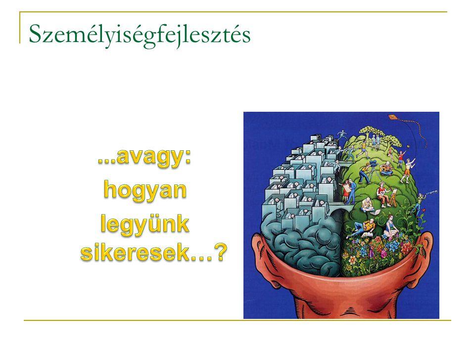 Célok Merészebb célok Személyiség fejlesztés Tárgyi tudás Igény növekedés lelkesedéstudásvágy A siker ciklusa