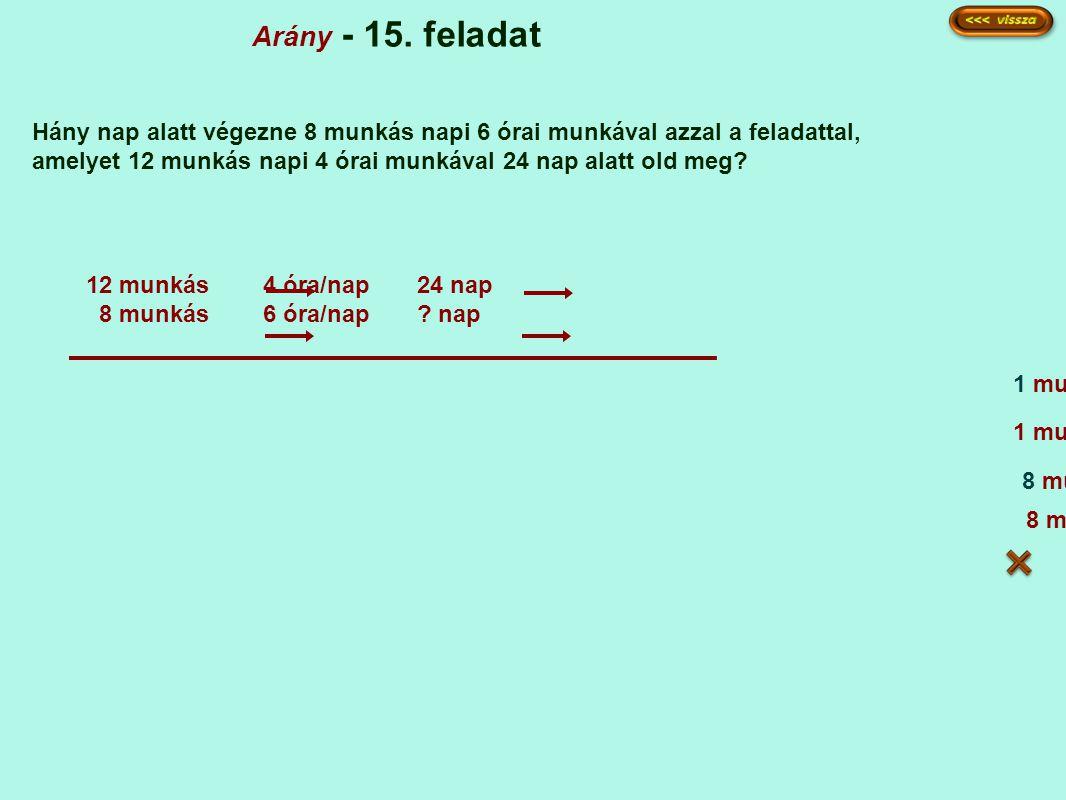Arány - 15.