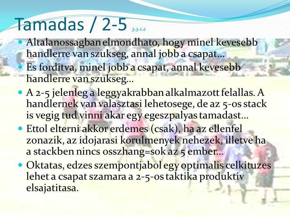 Tamadas / 2-5 3.3.1.2  Altalanossagban elmondhato, hogy minel kevesebb handlerre van szukseg, annal jobb a csapat…  Es forditva, minel jobb a csapat