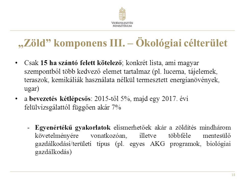 """18 """"Zöld komponens III."""