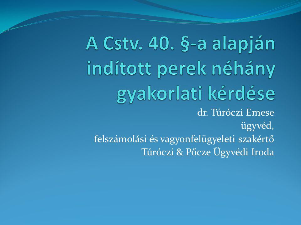 dr. Túróczi Emese ügyvéd, felszámolási és vagyonfelügyeleti szakértő Túróczi & Pőcze Ügyvédi Iroda