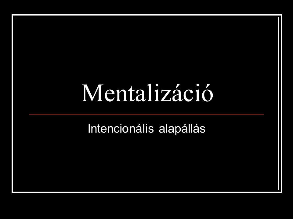 Mentalizáció Intencionális alapállás