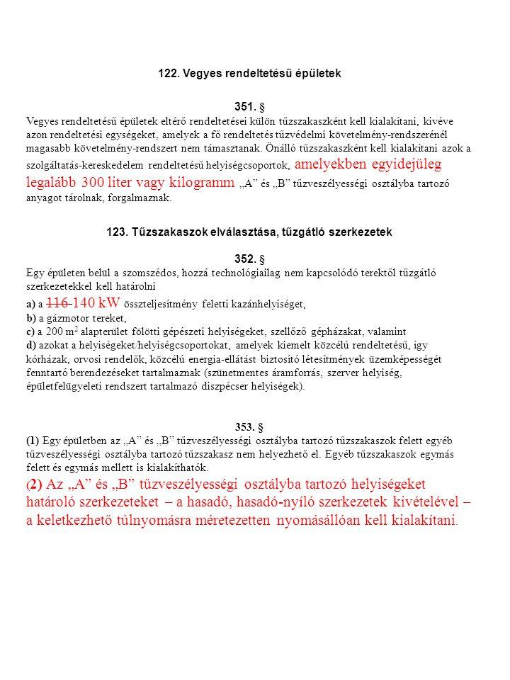 XXVI.Fejezet Tűzoltóság beavatkozását biztosító követelmények 159.